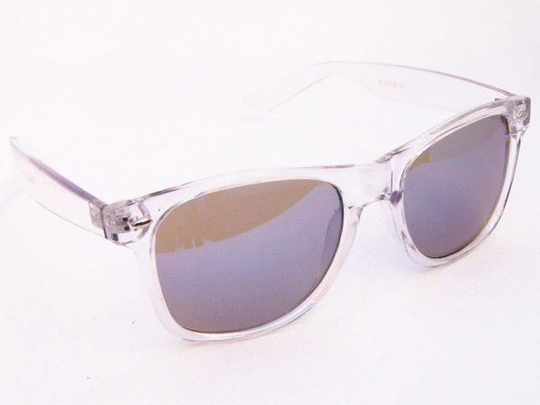 Wayfarer Colour Mirror (blank/blå) - Wayfarer solbrille