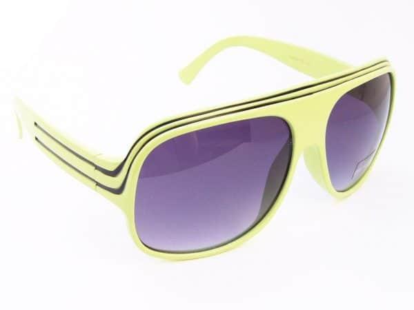 Billionaire Classic (grønn/svart) - Retro solbrille