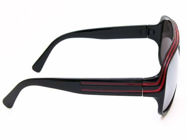 Billionaire Mirror (svart) - Retro solbrille