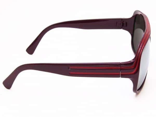 Billionaire Mirror (plomme) - Retro solbrille