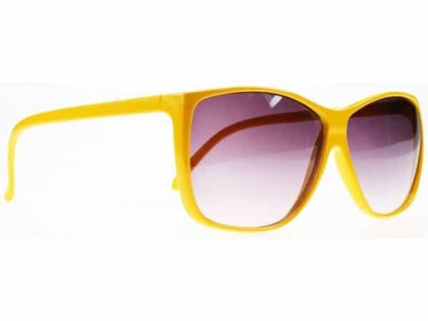 Colour Wave (gul) - Retro solbrille