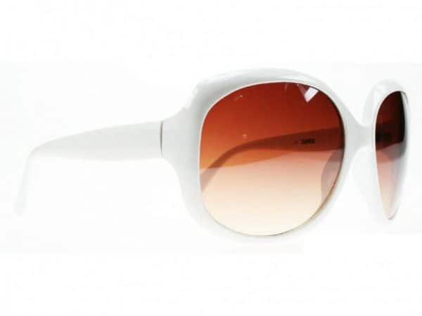 Paris Oval (hvit) - Fashion solbrille