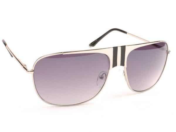 Aviator Stripes (silver/svart) - Aviator solbrille