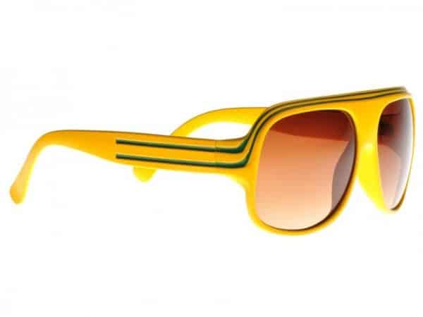Billionaire Classic (gul) - Retro solbrille