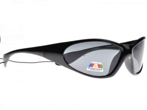 Sportsfisker (svart) - Solbrille med polariserte glass
