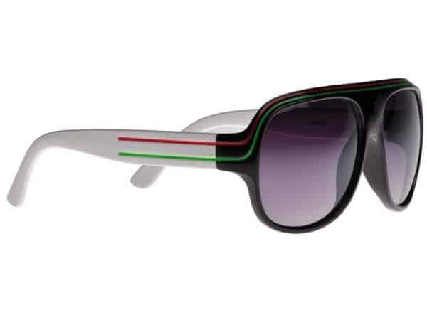 Billionaire Colour (svart/hvit) - Retro solbrille