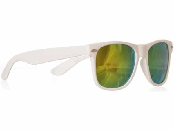 Wayfarer Yellow Mirror (hvit) solbrille