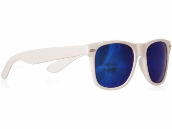 Wayfarer Blue Mirror (hvit) - Wayfarer solbrille