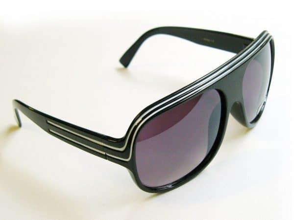 Billionaire Classic (svart) - Retro solbriller