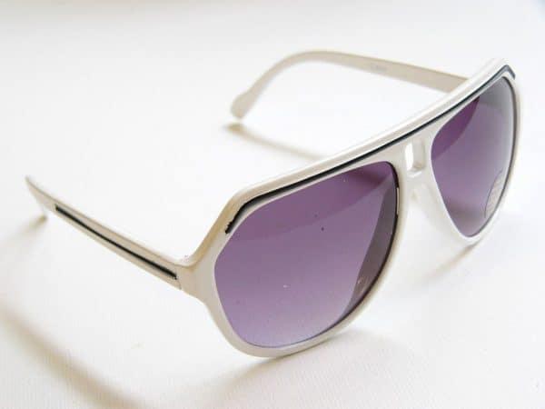 Vintage solbrille (hvit/svart) - Vintage solbrille