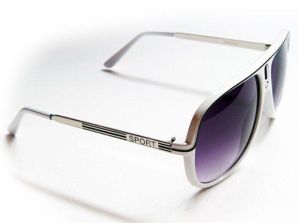 Aviator Sport (hvit) - Vintage solbrille