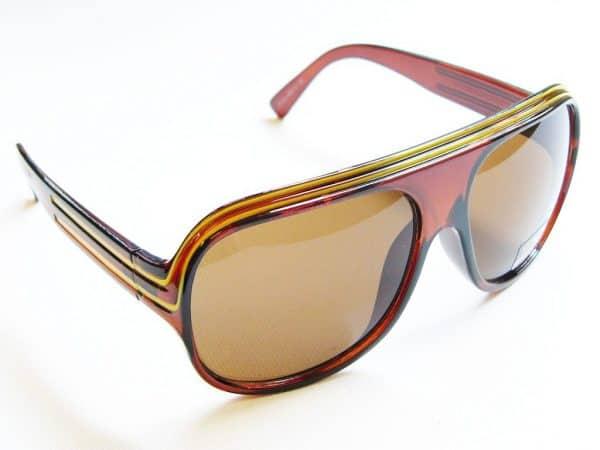 Billionaire Classic (brun/gull) - Vintage solbrille