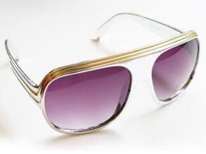 Billionaire Shiny (sølv/gull) - Vintage solbrille