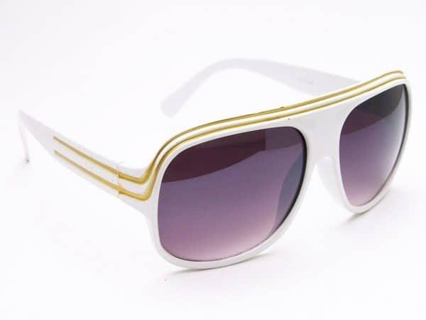 Billionaire Classic (hvit) - Retro Solbrille