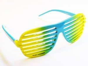 Aviator Framed (gull/svart) - Retro solbrille