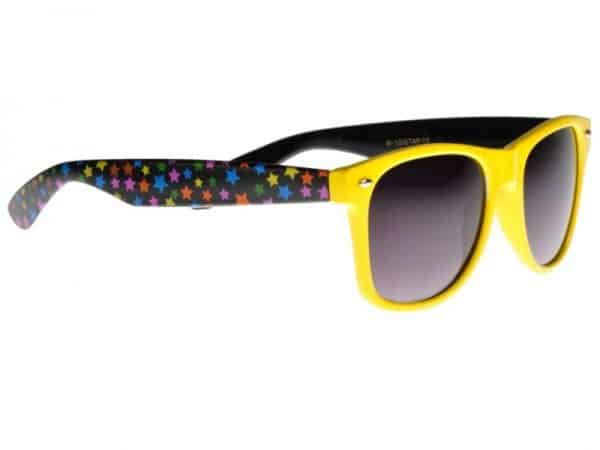 Wayfarer Stars (gul/svart) - Wayfarer solbrille