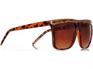Retro Stripes (brun) - Retro solbrille