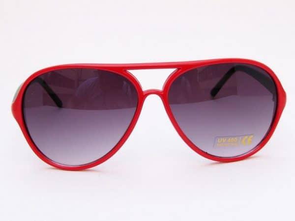 Retro Aviator (rød/svart) - Pilot solbrille
