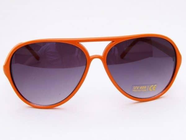 Retro Aviator (orange) - Retro solbrille