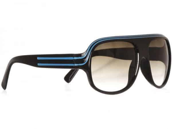 Billionaire Classic (svart) - Retro solbrille