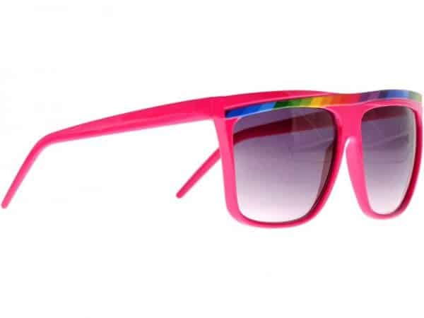 Rainbow Stripes (rosa) - Retro solbrille