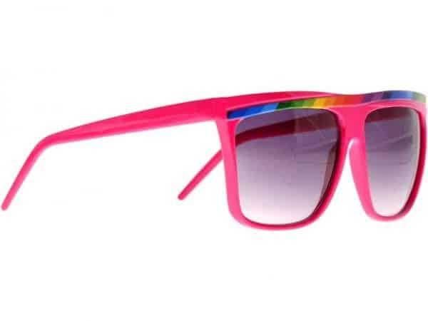 Rainbow Stripes (rosa) - Retro solbrille