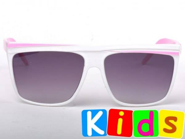 Retro Stripes - Junior (hvit/rosa) - Solbriller til barn