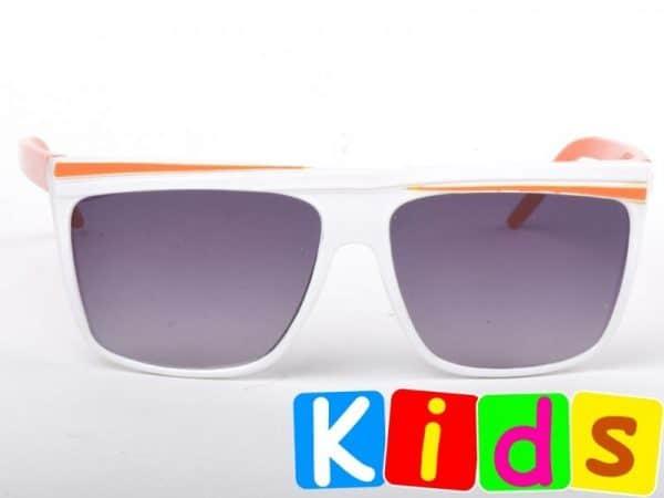 Retro Stripes - Junior (hvit/orange) - Solbriller til barn
