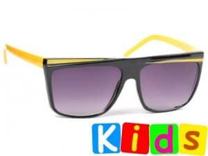 Retro Stripes Junior (svart/gul) - Solbriller til barn