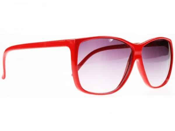 Colour Wave (rød) - Retro solbrille