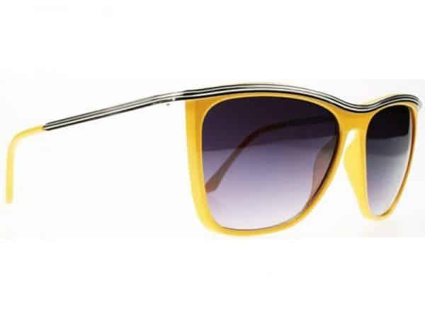 Bygone Fashion (gul) - Retro solbrille