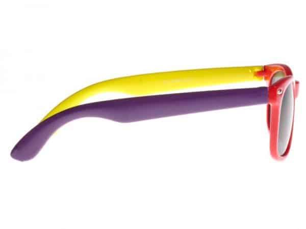Wayfarer Trippel (rød/lilla/gul) - Wayfarer solbrille