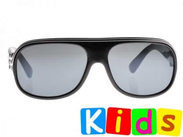 Billionaire Junior (svart) - Solbriller til barn