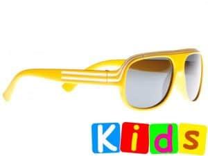 Billionaire Junior (gul) - Solbriller til barn