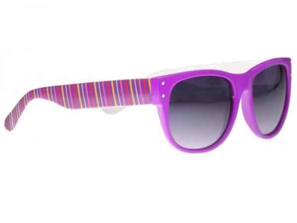 Wayfarer Wild Stripes (lilla) - Wayfarer solbrille