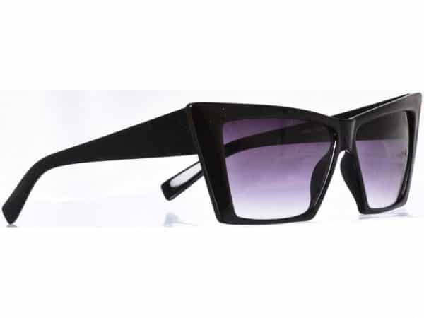 Cateye Squarre (svart) - Retro solbrille