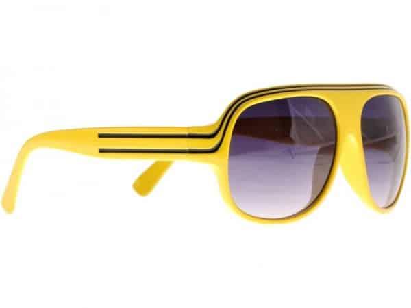 Billionaire Classic (gul/svart) - Retro solbrille