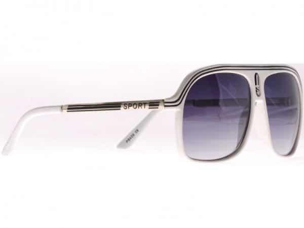 Aviator Sport (hvit) - Retro solbrille