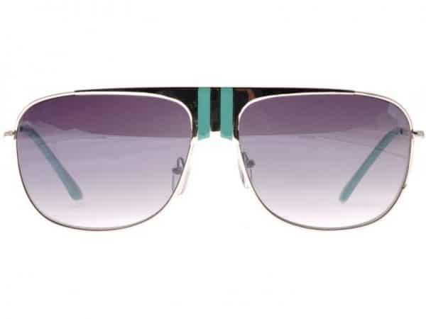 Aviator Stripes (silver/turkis) - Pilot solbrille