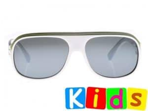 Billionaire Junior (hvit) - Solbriller for barn