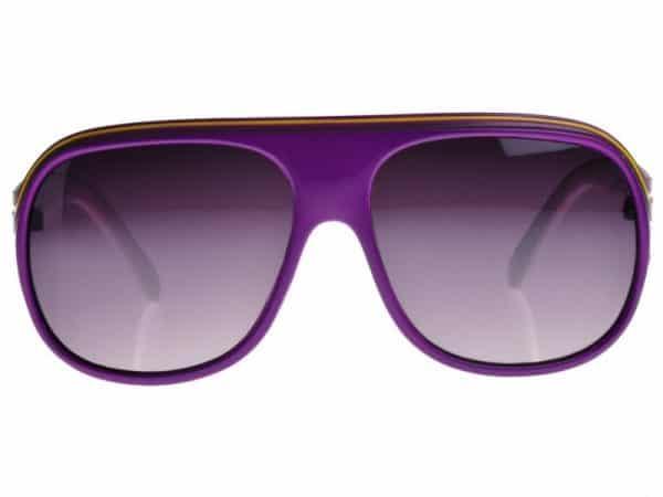 Billionaire Colour (lilla/hvit) - Retro solbrille