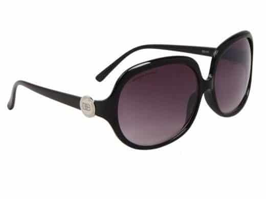DE Paris Oval (svart) - Store solbriller