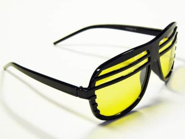 Shutter shades (svart) - Retro solbrille