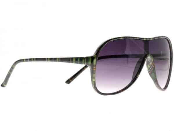 Aviator Plaid (grønn) - Retro solbrille