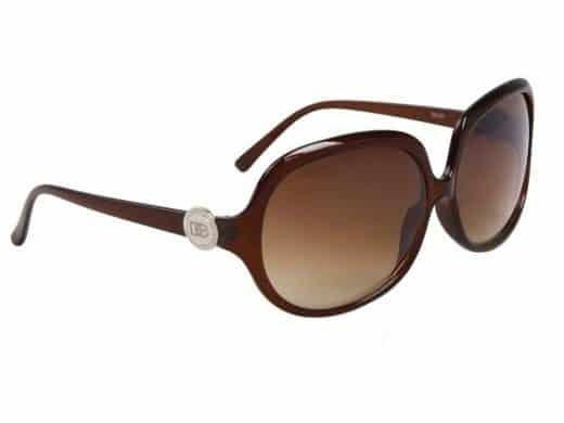 DE Paris Oval (brun) - Retro solbrille
