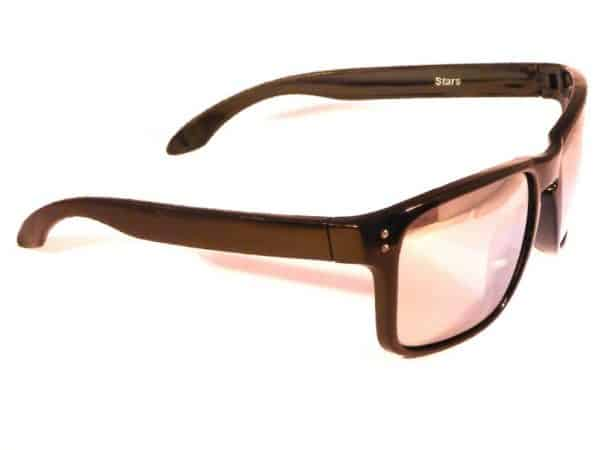 Vegas Silver Mirror (svart) - Sport solbrille