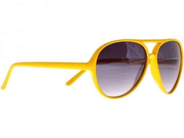 Retro Aviator (gul) - Retro solbrille