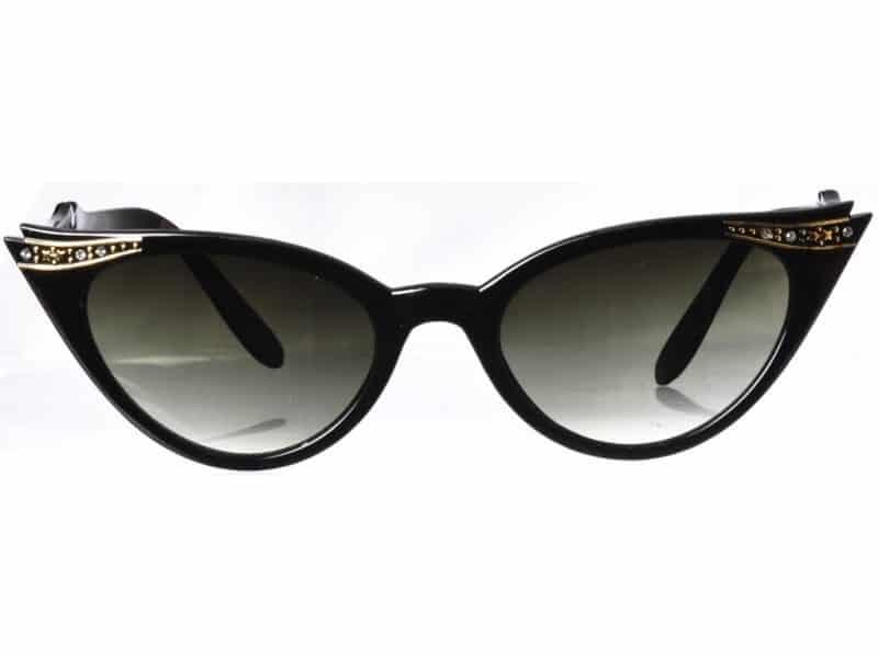 Cateye Diamond (svart) - Fashion solbrille