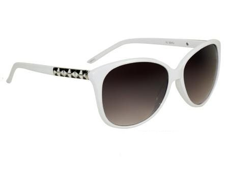 Cateye Retro Fashion (hvit) - Retro solbrille