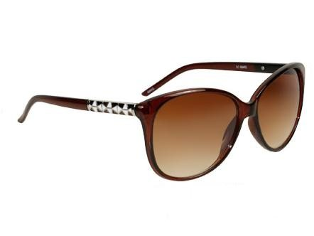 Cateye Retro Fashion (brun) - Retro solbrille